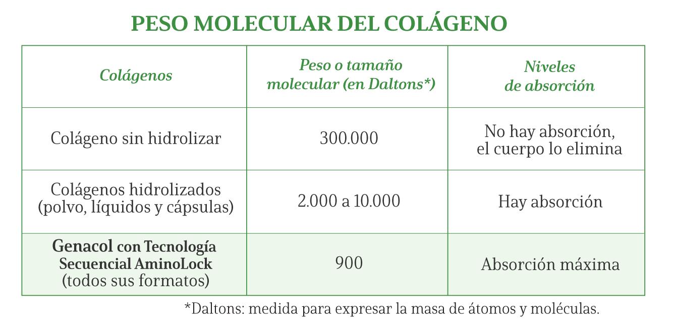Peso Molecular del Colágeno