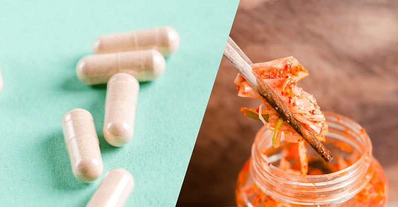 Probióticos, Suplementos y Alimentos