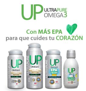 Omega UP UltraPure con más EPA para que cuides tu corazón