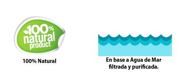 100% agua de mar natural