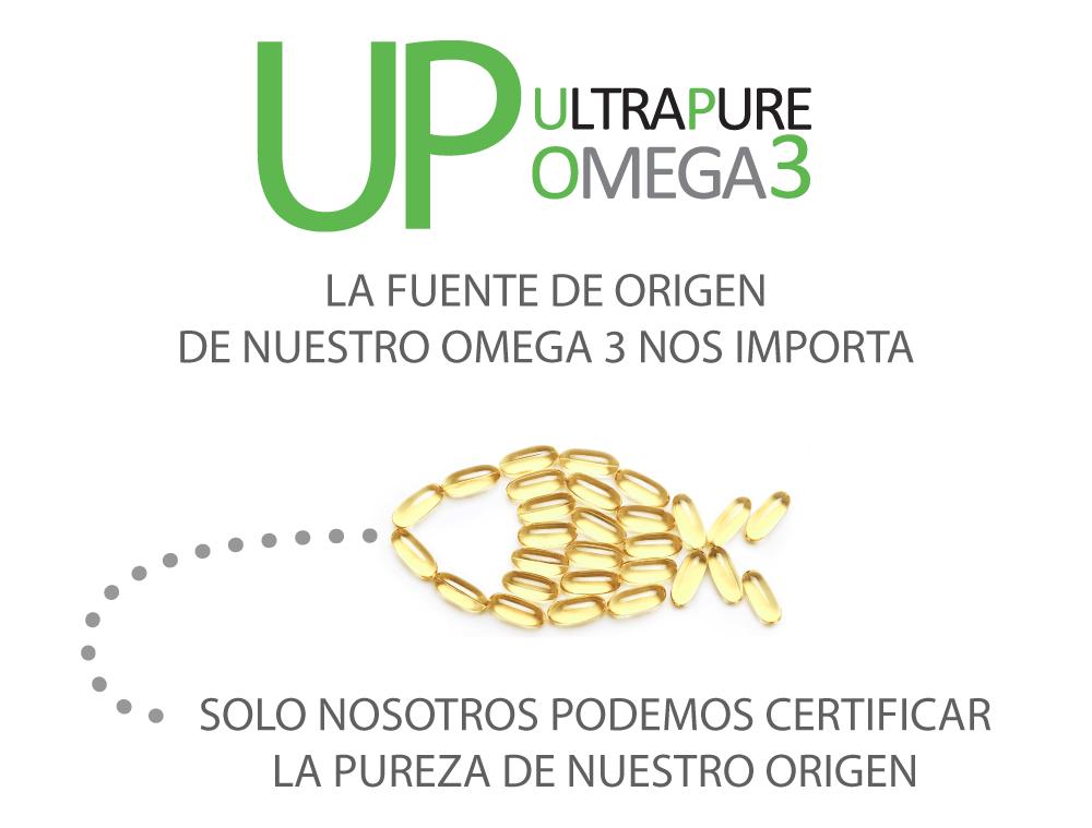Omega UP UltraPure la fuente de origen de nuestro Omega 3 nos importa. Solo nosotros podemos certificar la pureza de nuestro origen
